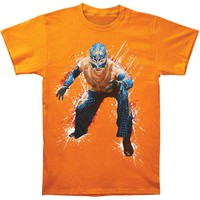 WWE Men's  Rey Mysterio T-shirt Orange