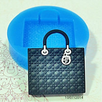 Lady Handbag Silicone Mold Mini Resin Mold Scrapbooking Mold Clay Push Mold