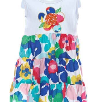 LaJenns Girl's Dress with Flower Applique