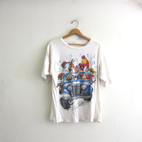Vintage Looney Tunes tshirt / oversized loose fit tee shirt / front and back shirt
