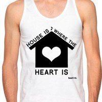 "EDM Shirts - ""House Is Where the Heart Is"" - Men's Neon Tanks and Tees - Bad Kids Clothing – Bad Kids Clothing"