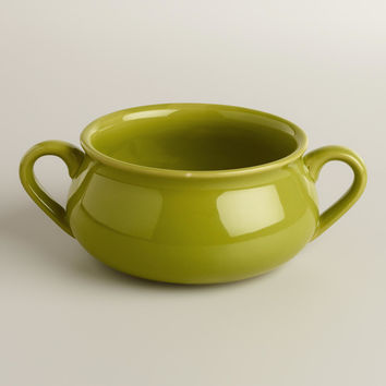 Green Double-Handled Soup Crocks, Set of 4 - World Market