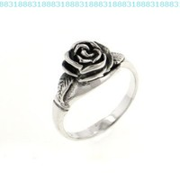 Small Sterling Silver Detailed Rose Flower Ring(Sizes 3,4,5,6,7,8,9,10):Amazon:Jewelry