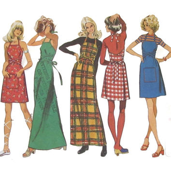 Quick Sew, Back-Wrap Dress or Jumper Simplicity 5021 Misses' Super Jiffy, Small 8-10 -Bust 32 1/2 - 32 1/2 inch