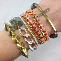 Just Peachy Arm Candy Stack Set