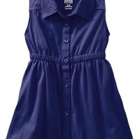 Button-Front Jersey Dresses for Baby