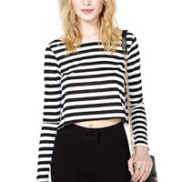 Nasty Gal Straight Up Crop Top