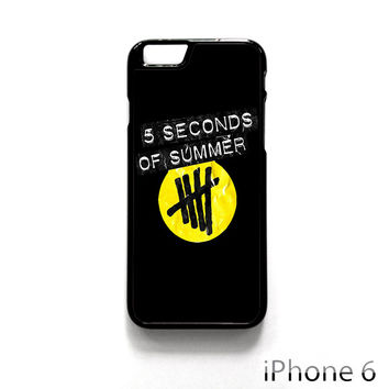5 Second of Summer logo for Iphone 4/4S Iphone 5/5S/5C Iphone 6/6S/6S Plus/6 Plus Phone case