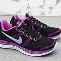"""""""Nike Lunargl Ide 30"""" Women Sport Casual Fashion Multicolor Knit Breathable Light Running shoes Sneakers"""
