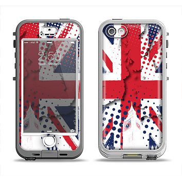 The Grunge Vector London England Flag Apple iPhone 5-5s LifeProof Nuud Case Skin Set