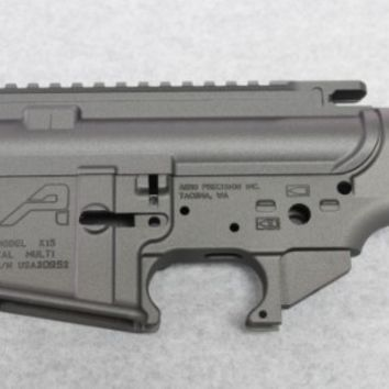 AR15 Stripped Receiver Set with Cerakote:Tungsten