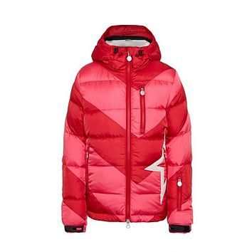 Perfect Moment - Kids' Striped Super Mojo Red Peach Pink Jacket
