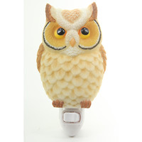 Hoot Owl Night Light - Ibis & Orchid Designs Flowers of Light Collection