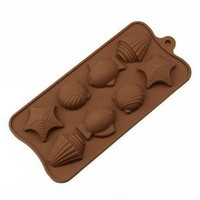 Wholeport 8-Cavities Shell Fish Silicone Cake Mold Mould Cake Pan Handmade Biscuit Mold