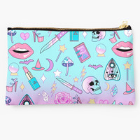 'Girly Pastel Witch Goth Pattern' Studio Pouch by lunaelizabeth