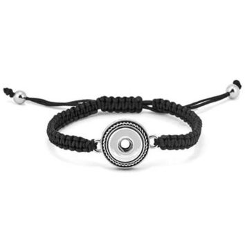 ONETOW Ginger Snaps Petite One-Snap Black Woven Bracelet GP90-05