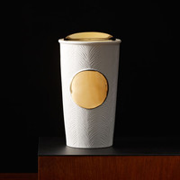 Gold Textured Double Wall Traveler Mug, 10 fl oz