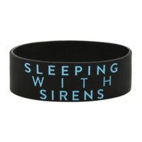 Sleeping With Sirens Feel Rubber Bracelet