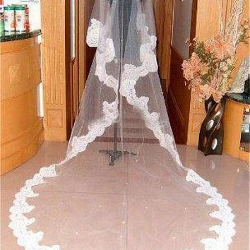 [53.74] Beautiful Tulle Veil Matching Your Elegant Wedding Dress - dressilyme.com
