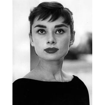 "Audrey Hepburn Poster Black and White Poster 16""x24"""