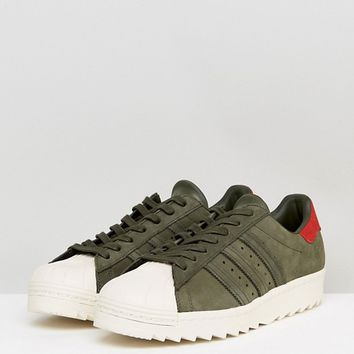 adidas Originals Superstar Trainers In Green BZ0567 at asos.com