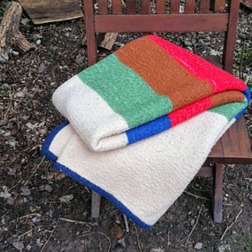 Vintage Stripe Stadium Blanket  Multicolor Throw