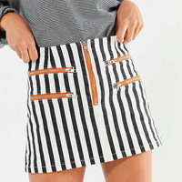 BDG Striped Contrast Zipper Mini Skirt | Urban Outfitters