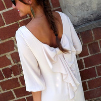 Ivory Bow-Back Dress | The Rage