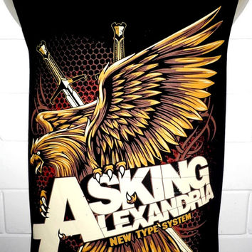 Asking Alexandria Rock Band Music Metal T Shirt Tank Top Singlet Vest Sleevless Size M