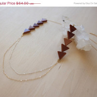 CIJ Sale Sunstone Draped Mixed Metals Necklace