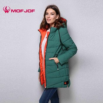 winter jacket women new arrival mid-length hooded thick Winter Jacket Quilted Jackets for ladies MF568