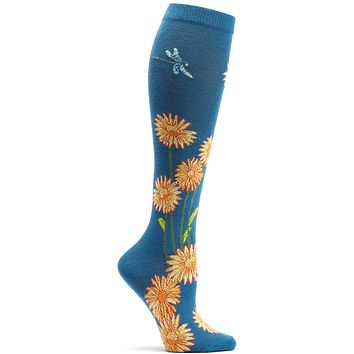 Dragonflies and Daisies Knee High