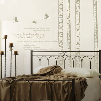 White Birch Forest Wall Decal