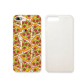 Pizza Pattern Slim Iphone 7PLUS Case, Clear Iphone 7Plus ard Cover Case For Apple Iphone 7PLUS -Emerishop (iphone 7 plus)