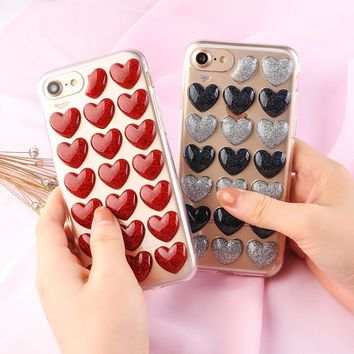 3D Love Heart Phone Cases