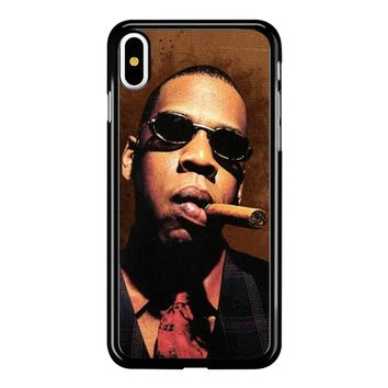 Jay-Z Cigar Glasses Tie Vest 01  iPhone X Case