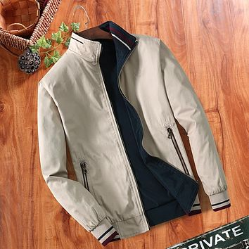 Double-sided Men's Fashion Jacket Thin Vintage Jacket Outfit For Guys