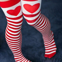Socks » Socks » Sweetheart Striped Thigh High « Sock Dreams