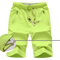 Men and Women Solid Board Shorts New Fashion Candy Colors Slim Beach Shorts Jogger Short Pants Size5XL