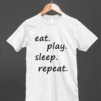 eat sleep play repeat reg tee-jh - glamfoxx.com - Skreened T-shirts, Organic Shirts, Hoodies, Kids Tees, Baby One-Pieces and Tote Bags