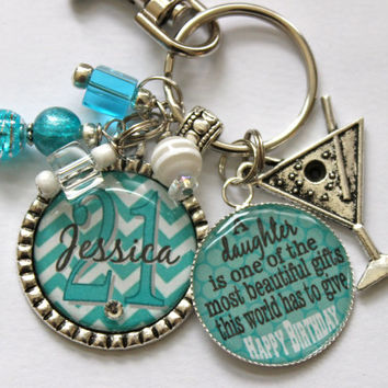 Personalized 21st birthday gift name sister aunt daughter nana grandma A daughter is one of the most beautiful gifts this world has to give