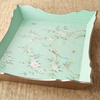 Hand-Painted Wood Tray
