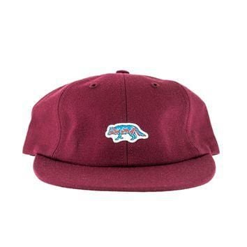 Raised by Wolves Geowulf Polo Cap Cardinal Wool