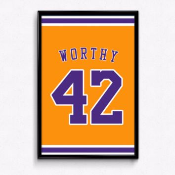 James Worthy Number 42 Jersey