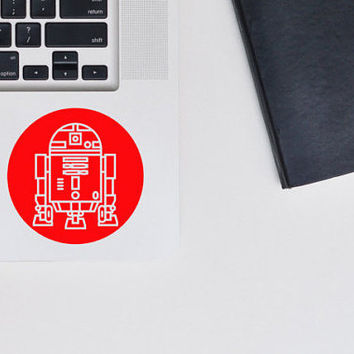 R2D2 Decal Star Wars Sticker / Vinyl Decal / Laptop Sticker / The Force Awakens / VNL Company