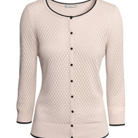 Pattern-knit Cardigan - from H&M