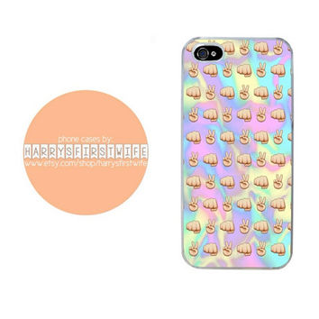 Peace and Punch Tie Dye Emoji iPhone 4/4s 5/5s/5c/6/6 plus iPod 4/5 & Galaxy S5 Case