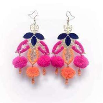 Moroccan Pom Pom Earrings