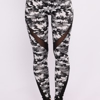 Eliza Active Leggings - Grey Multi
