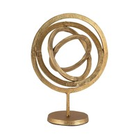 Aluminum Rings Sculpture Gold
